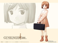 gunslinger girl hentai bob cut brown eyes ctr
