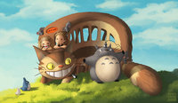 my neighbor totoro hentai pre totoro friends lolita art morelikethis artists fanart digital painting movies