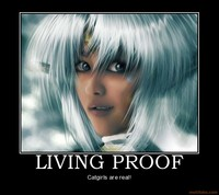 outlaw star hentai demotivational poster living proof aisha outlaw star catgirl catgirls anime manga hentai cat girl cosplay