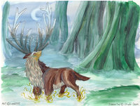 princess mononoke hentai deer god mononoke luna morelikethis fanart traditional paintings movies