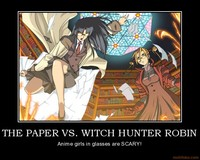 witch hunter robin hentai demotivational poster paper witch hunter robin read die rod
