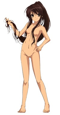 haruhi hentai ffa bbaae absurdres brown hair highres long nipples nude filter photoshop ponytail pussy suzumiya haruhi yuuutsu uncensored next