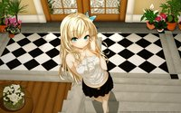 blue eyes hentai wallpapers anime girls blondes blue eyes boku tomodachi sukunai butterflies flowers kashiwazaki sena plants boobs bikinis hentai ecchi