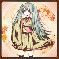 twintails hentai albums userpics flower hatsune miku japanese clothes long hair sheruno skirt sleeves past wrists smile thighhighs twintails vocaloid kor hentai categorized wallpapers galleries