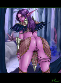 no panties hentai ass bent over night elf panties pubic hair world warcraft