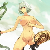 pubic hair hentai toon pics pic magna hentai picture boots bow weapon breasts kneeling marguerite mosha nude one piece photoshop pubic hair pussy red eyess short silver uncensored