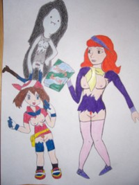 adventure time marceline hentai aada adventure time daphne blake marceline may porkyman scooby doo crossover luball