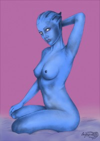 alien tentacle hentai liara tsonis sexy body mass effect hentai soni alien asari tentacles hentairing