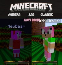 amy rose hentai game pre minecraft modern classic amy rose skins andyi art