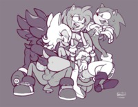 amy rose the hedgehog hentai sonic team hedgehog amy rose rouge bat tails shadow brekkist artist bigtyme