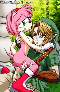 amy sonic hentai edf amy rose legend zelda link palcomix sonic team twilight princess crossover naked from