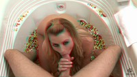 anaglyph hentai media original anaglyph lexi belle knees giving head