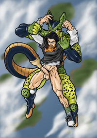 android 18 cell hentai afa fce android cell dragonball yaoi