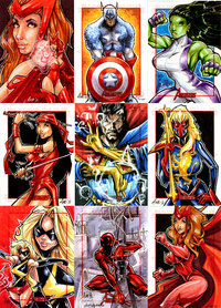 avangers hentai pre marvel avengers sketch cards axebone sbk morelikethis cartoons traditional mixedmedia