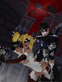 batman e hentai batman arkham city everlong harley quinn joker nightwing