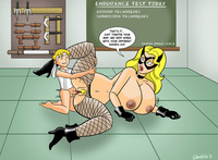 black canary hentai black canary intense training color commission canarys