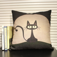black cartoon hentai wsphoto font cat cartoon black pillow fluid zakka cushion kaozhen gift free shipping products outdoor homes