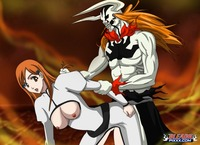 bleach e hentai hollowichigo orihime riding ichigo bleach hentai