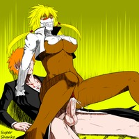 bleach hentai ichigo cac eeae bleach blonde dark skin color kurosaki ichigo large breasts tagme tia harribel next