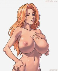 bleach matsumoto rangiku hentai hentai bleach blonde hair blue eyes breasts collarbones huge long matsumoto rangiku mole navel sefuart speh topless wink