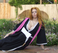 bleach matsumoto rangiku hentai matsumoto rangiku cosplay hooded woman bleach hentai