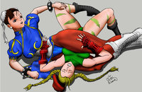 cammy hentai cosplay pre chun choking cammy vitorleone xsj morelikethis fanart digital drawings games