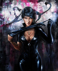 cat woman hentai pre catwoman cyrilt hyuf morelikethis fanart digital painting movies