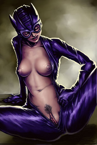 catwoman hentai gallery pics brutal bdsm plays catwoman harley quinn babe