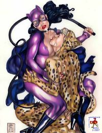 catwoman hentai images lusciousnet catwoman cheetah superheroes pictures album lesbians lesbian