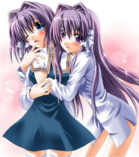 clannad kyou hentai girls clannad fujibayashi kyou dblog ryou incest multiple otoki raku siblings sisters touching twins yuri