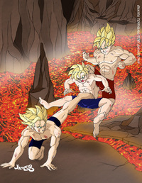 dbz hentai galleries media original alternative dragon ball kai volcano training hentai gallery