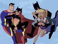 dc girls hentai fcd barbara gordon batgirl batman bruce wayne dcau justice league supergirl superman hentai super girl
