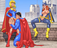 dc girls hentai superman sucking supergirls dick batgirl jerks off