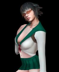 devil may cry 4 gloria hentai devil may cry lady schoolgirl costume green animefanhentai jir morelikethis fanart