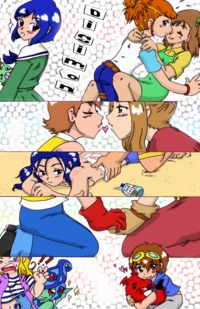 digimon e hentai uploaded comics yaoi yuri trio mini comic meme chivi chivik deviantart net pre