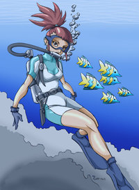 digimon hentai rika pre digimon rika scuba color dinguheado morelikethis artists