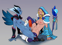 dota hentai izra vengeful spirit crystal maiden comm pictures user