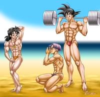 dragon ball z hentai photos dbz gay hentai yaoi bishonen muscle dbkai bara dragon ball kai saiyan peruggine bodybuilding venice beach speedo fanart gohanxtrunks weekend