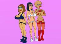 family guy simpsons hentai cdd american dad family guy hayley smith lisa simpson meg griffin fear simpsons