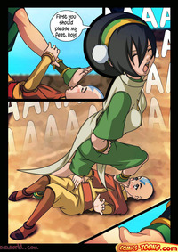 famous toon hentai gallery aang toph avatar hentai