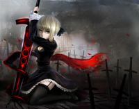 fate stay night hentai game konachan dress fate stay night saber sword weapon windtalker