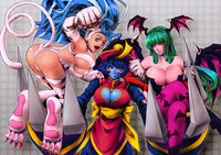 felicia capcom hentai wallpaper darkstalkers nekomimi animal ears morrigan aensland lei felicia