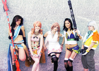 final fantasy 13 serah hentai ffxiii girls cosplay fang vanille serah lebrau hope oerba yun gallery
