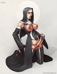 futa hentai porn shemale nun cumming herself incase self facial