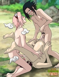 gaara and sakura hentai boys anal blushing cum boy gaara genderswap haruno sakura male naruto nipples oral outdoors penis pink hair threesome uchiha sasuke yaoi