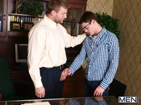 gay e hentai colby jansen hunter page office gay porn fucking desk entry