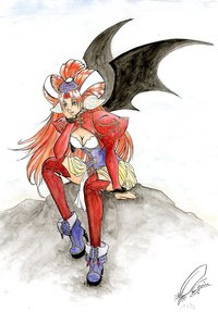 grandia hentai bat wings boots grandia all fours anus ass bent