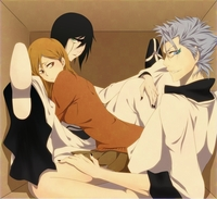 grimmjow hentai media original ulquiorra grimmjow orihime bleach anime photo