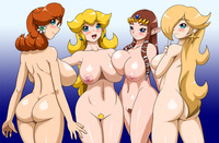princess daisy hentai legend zelda princess daisy peach rosalina speeds super mario bros galaxy crossover