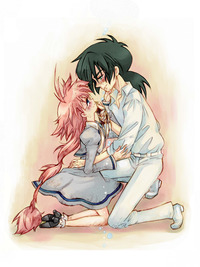 princess tutu hentai cdc ahiru black hair couple eye contact fakir orange princess tutu tears torinone nontenki